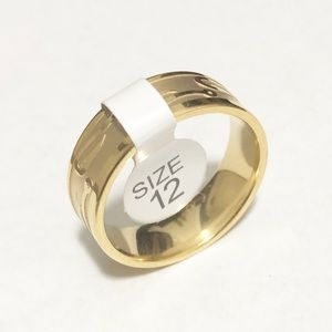 Other - Men's Gold Toned Fishing Hook Ring, Size 12 Men's